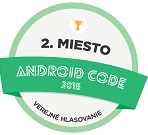 2nd place ANDROID CODE 2015 Public Voting