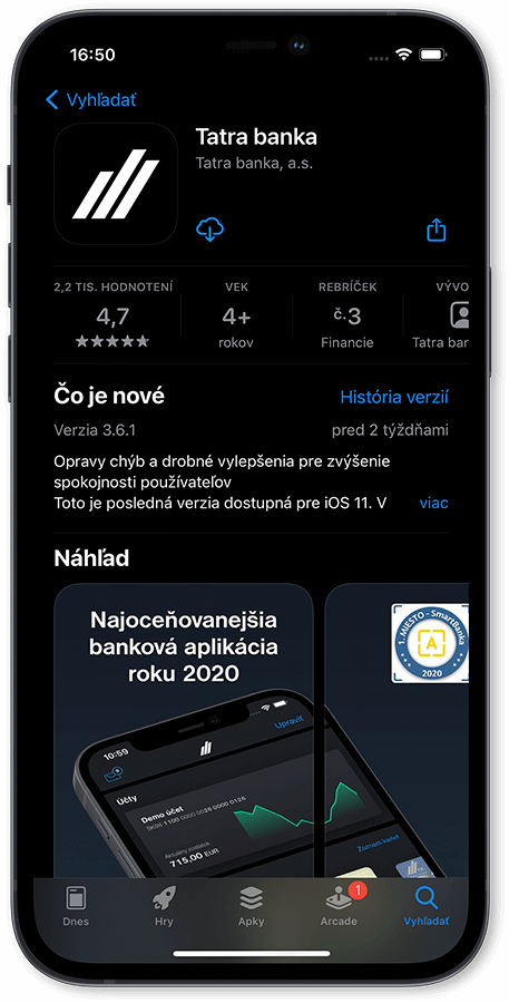 postup 1 Tatra banka