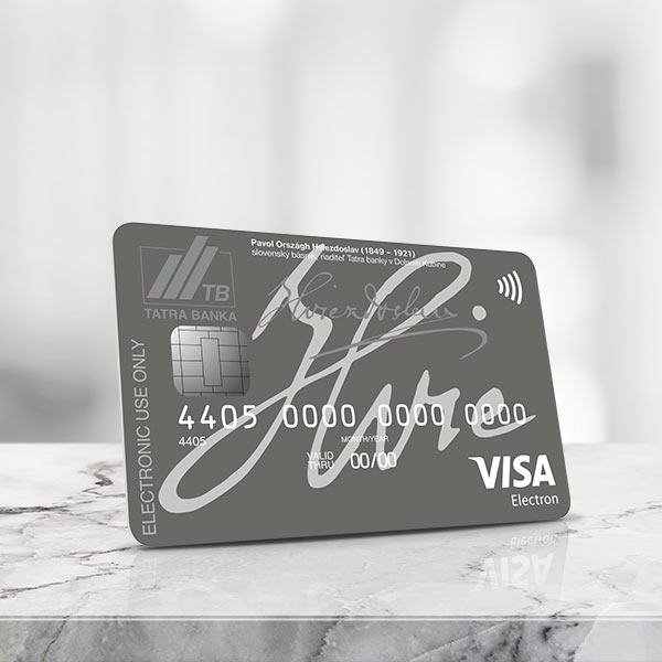 Visa Electron Debit Card for companies with optional travel insurance