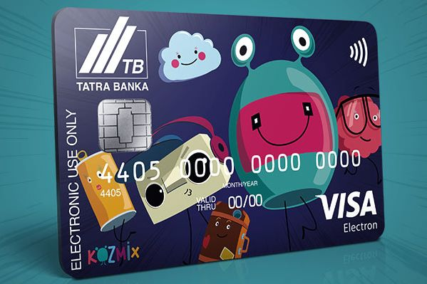 Kozmix debit card to a Children's Account