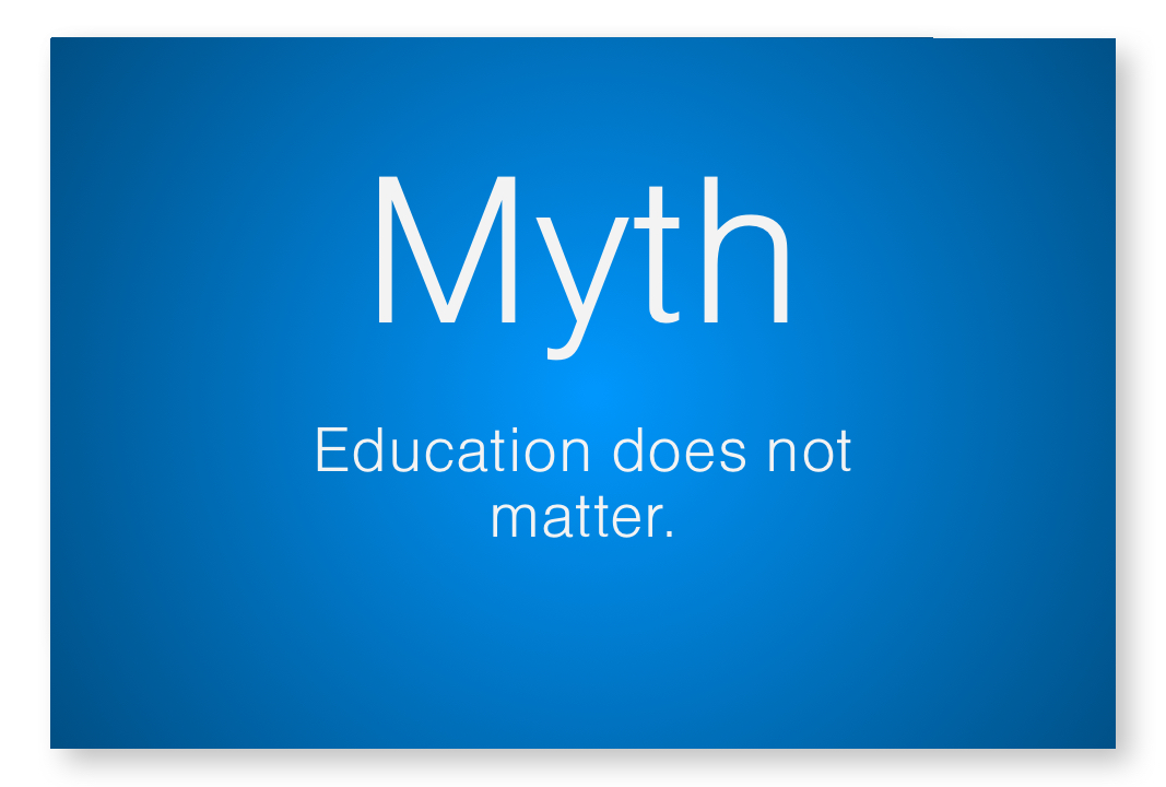 Myth - education does not matter