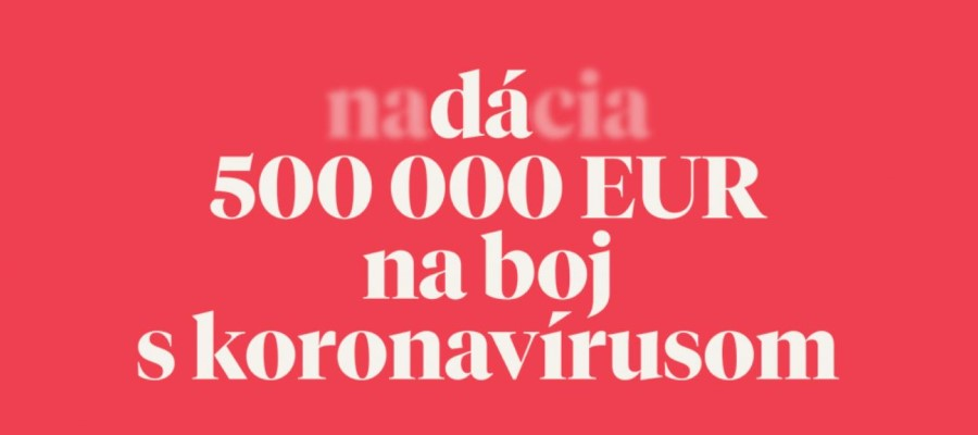 Tatra banka Foundation will donate EUR 500,000 to fight the coronavirus