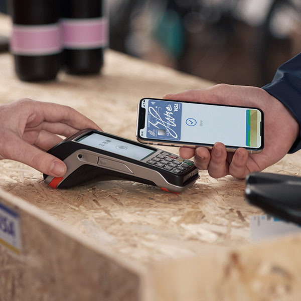 With Apple Pay simply hold your device near the merchant's payment terminal to pay