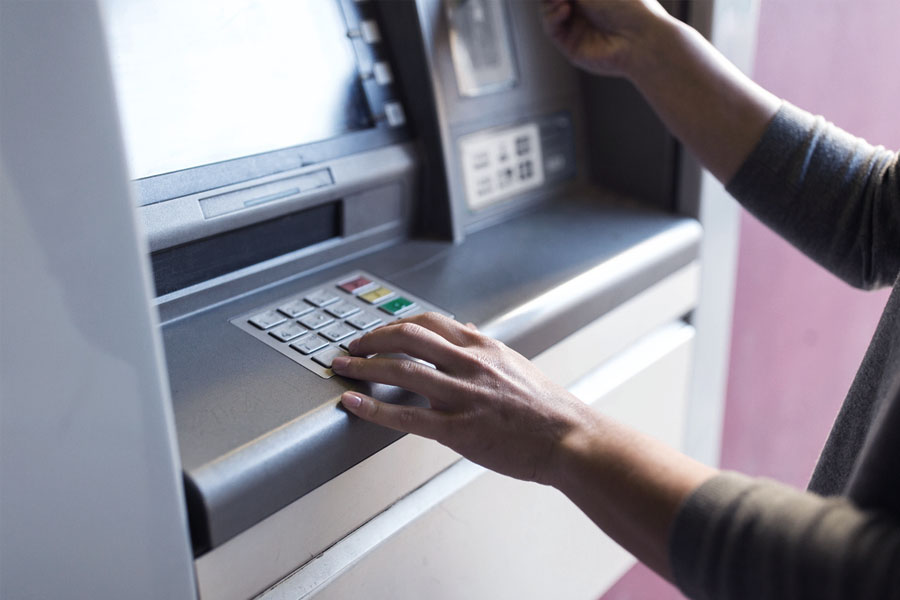 More secure ATMs with a controlled card movement