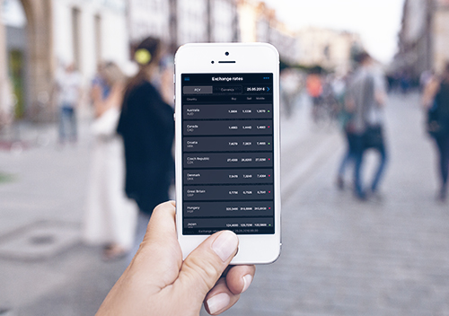 Exchange rates anytime, anywhere via Tatra banka mobile app